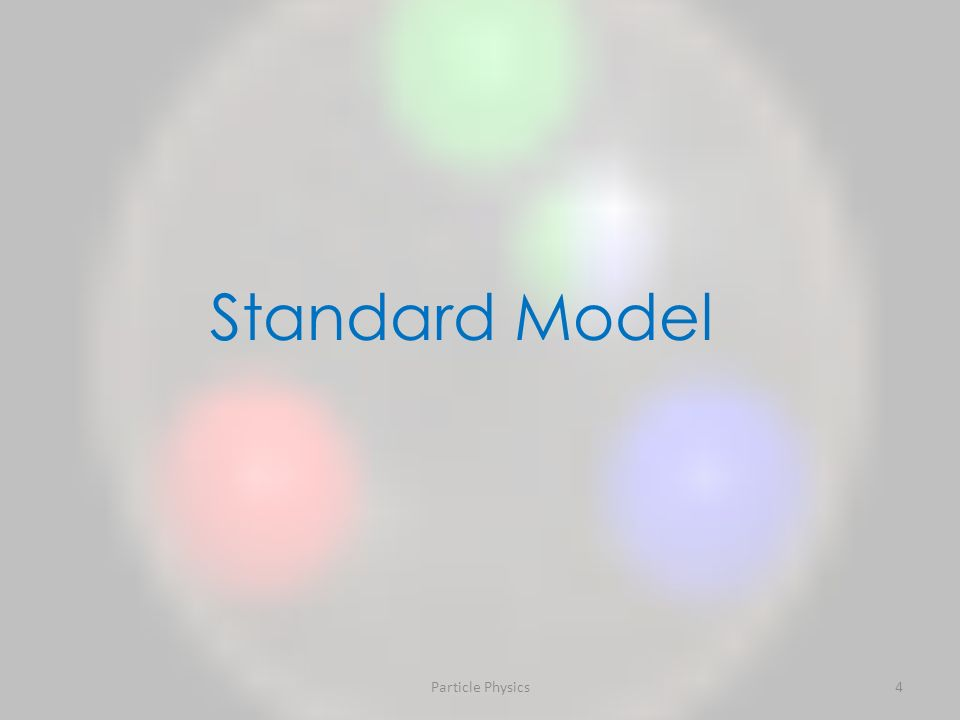 Particle Physics4 Standard Model