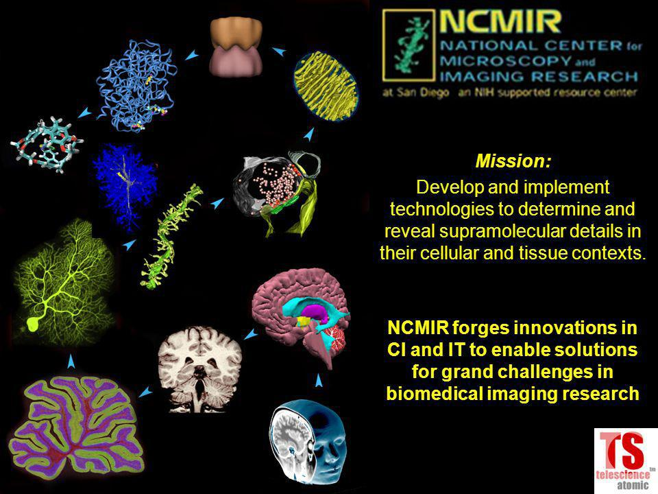 NCMIR is an Accessible Resource Center for Advanced Biomedical Research Fielding High-throughput Imaging Instruments, Computational Analysis Tools and Databases