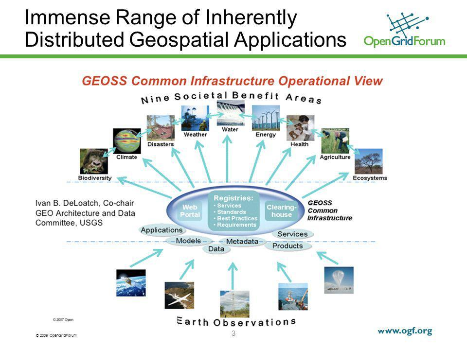 © 2009 OpenGridForum 4 The OGC-OGF Collaboration OGF collaborating with the Open Geospatial Consortium on integrated geospatial processing standards Joint article published in IEEE Computer, November, 2008 OGF participated in OWS-6 (6 th OGC Web Services testbed project)