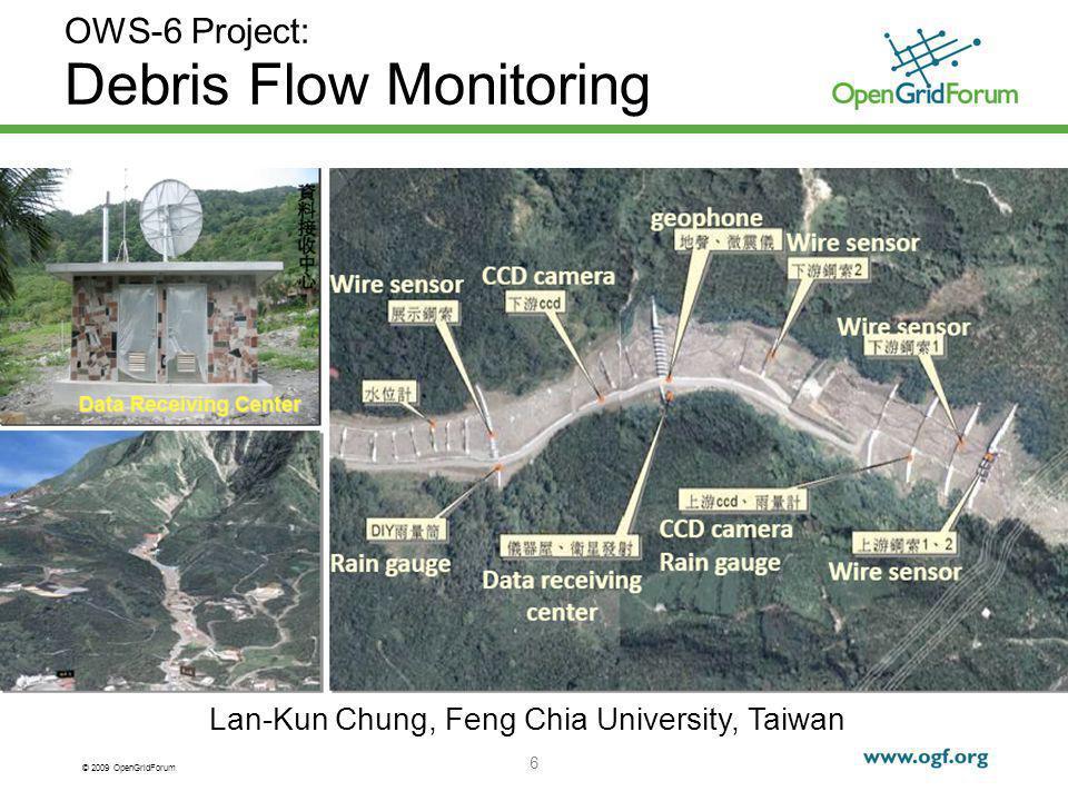 © 2009 OpenGridForum 6 OWS-6 Project: Debris Flow Monitoring Lan-Kun Chung, Feng Chia University, Taiwan
