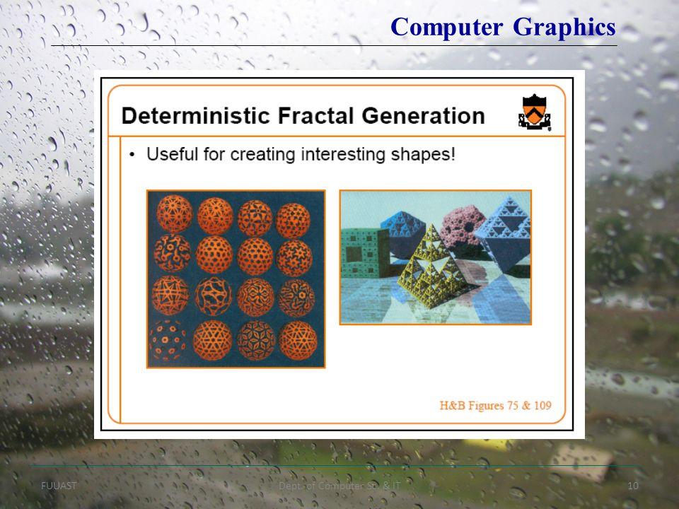 FUUASTDept. of Computer Sc. & IT10 Computer Graphics