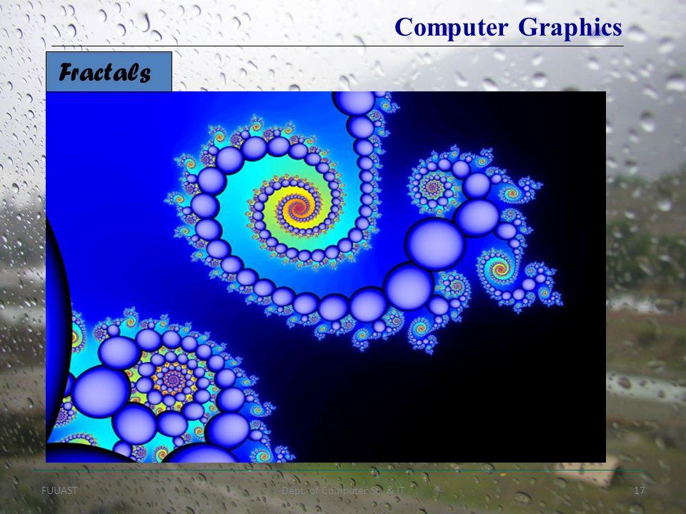 FUUASTDept. of Computer Sc. & IT17 Computer Graphics Fractals
