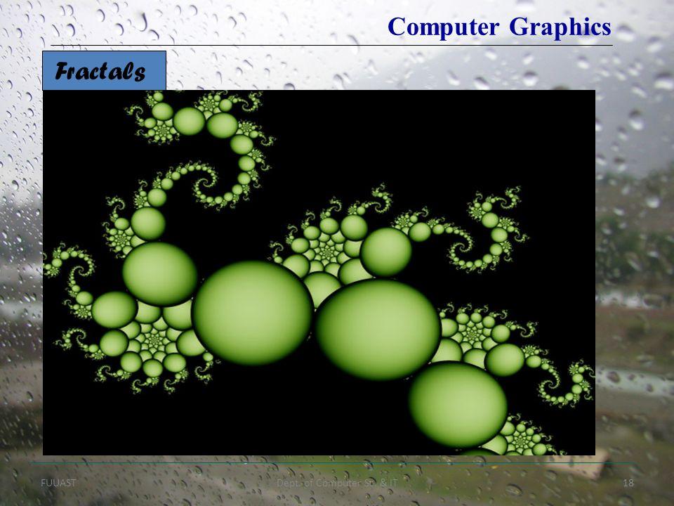 FUUASTDept. of Computer Sc. & IT18 Computer Graphics Fractals