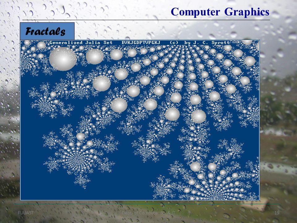 FUUASTDept. of Computer Sc. & IT19 Fractals Computer Graphics