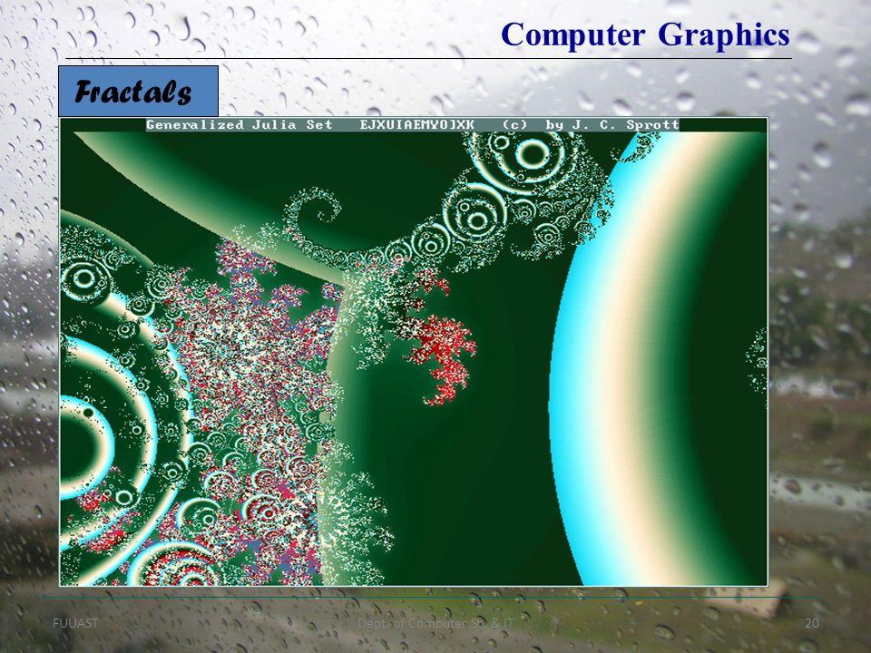 FUUASTDept. of Computer Sc. & IT20 Computer Graphics Fractals