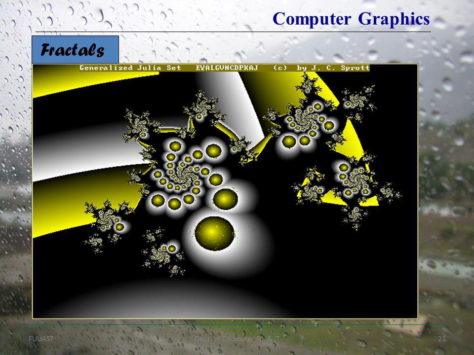 FUUASTDept. of Computer Sc. & IT21 Computer Graphics Fractals