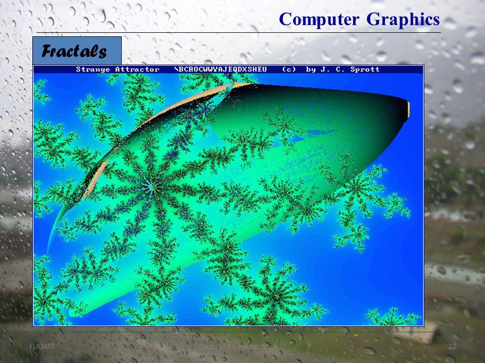FUUASTDept. of Computer Sc. & IT22 Computer Graphics Fractals