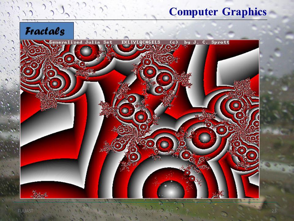 FUUASTDept. of Computer Sc. & IT23 Computer Graphics Fractals