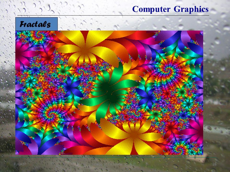 FUUASTDept. of Computer Sc. & IT26 Fractals Computer Graphics