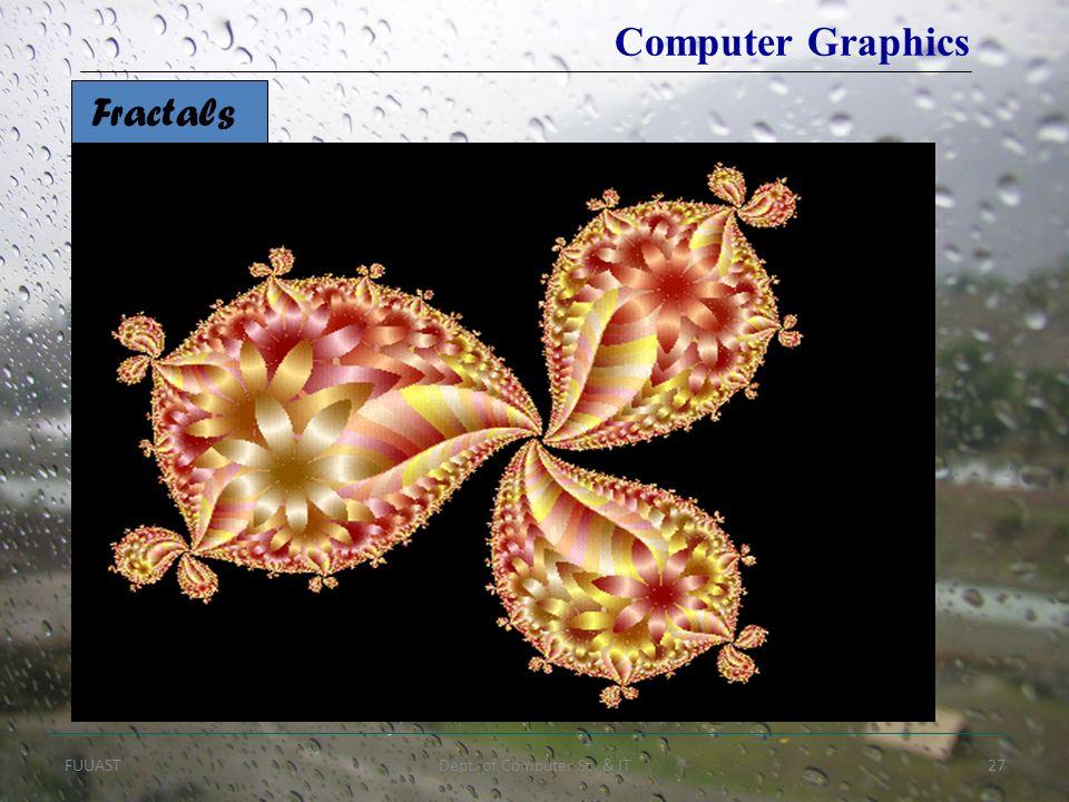 FUUASTDept. of Computer Sc. & IT27 Fractals Computer Graphics