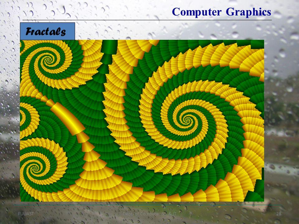 FUUASTDept. of Computer Sc. & IT28 Fractals Computer Graphics