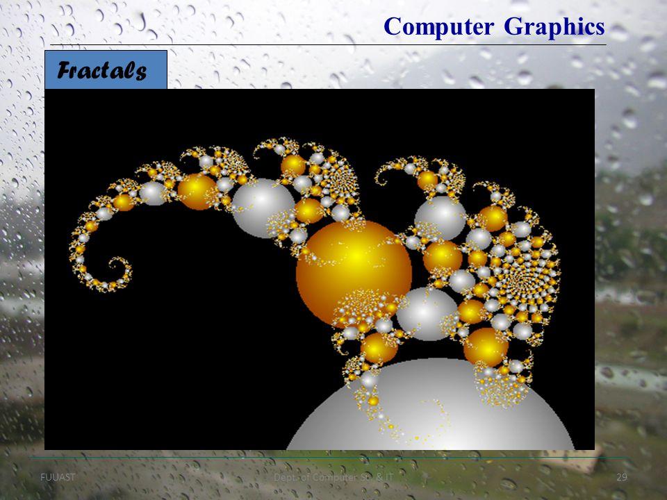 FUUASTDept. of Computer Sc. & IT29 Fractals Computer Graphics