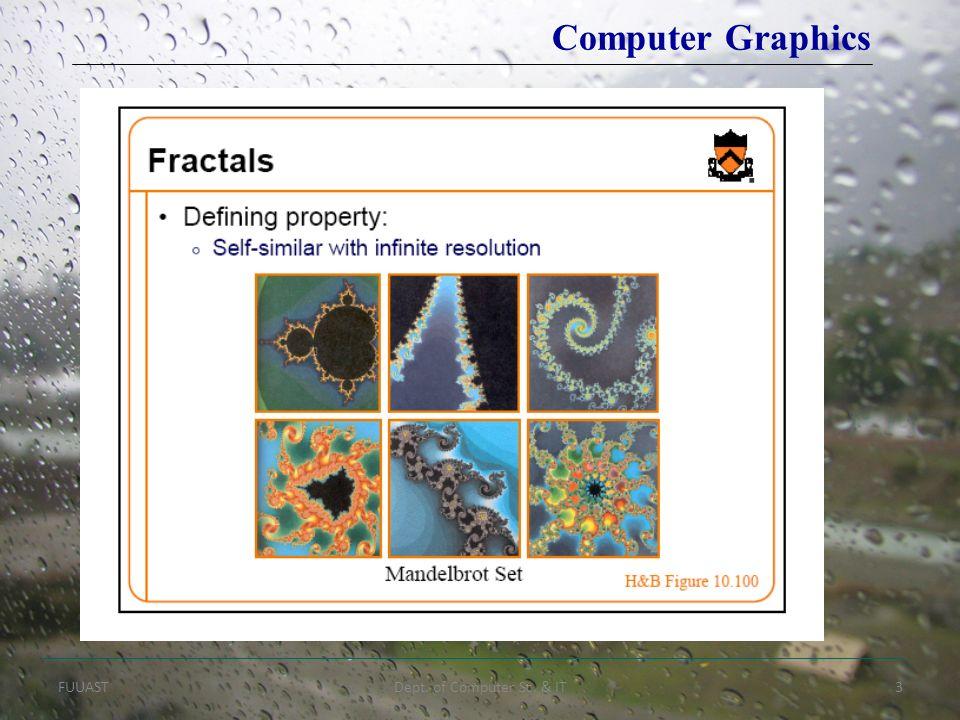 FUUASTDept. of Computer Sc. & IT3 Computer Graphics