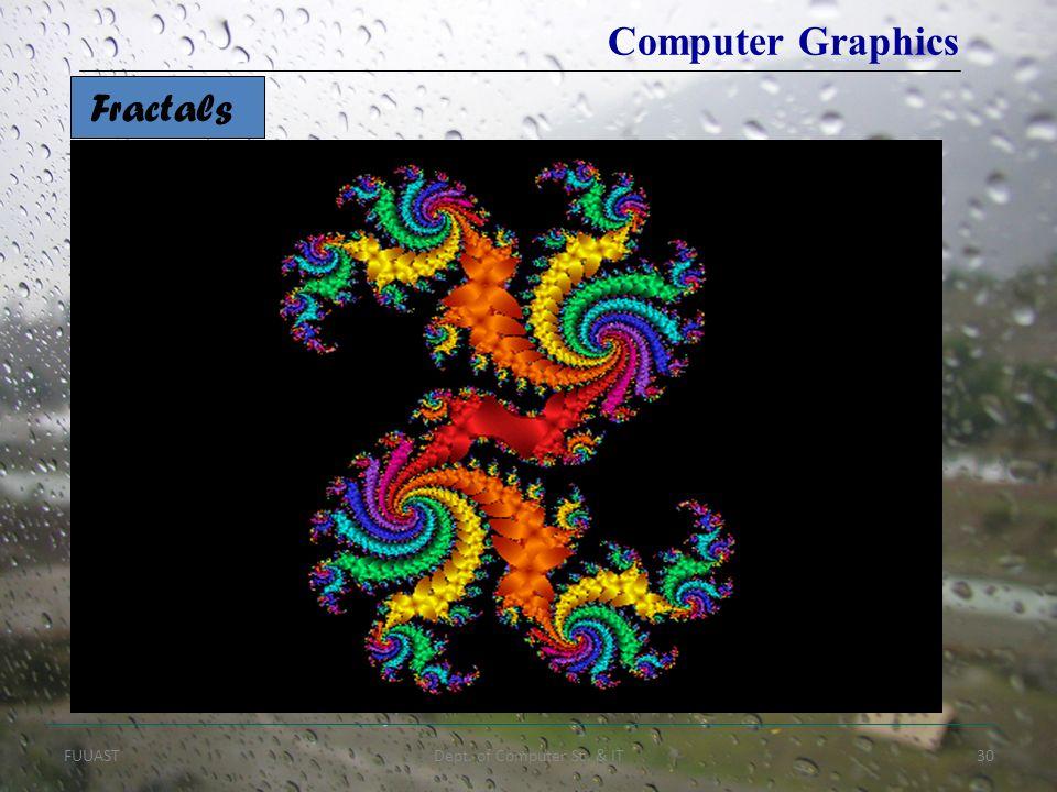 FUUASTDept. of Computer Sc. & IT30 Fractals Computer Graphics