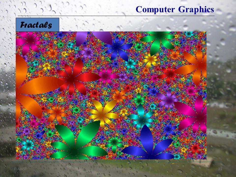 FUUASTDept. of Computer Sc. & IT31 Fractals Computer Graphics