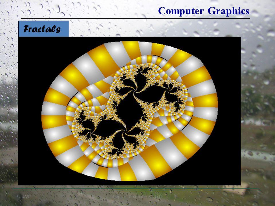FUUASTDept. of Computer Sc. & IT32 Fractals Computer Graphics