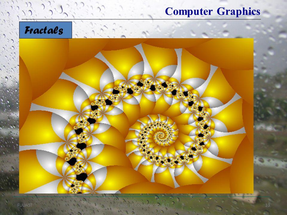 FUUASTDept. of Computer Sc. & IT33 Fractals Computer Graphics