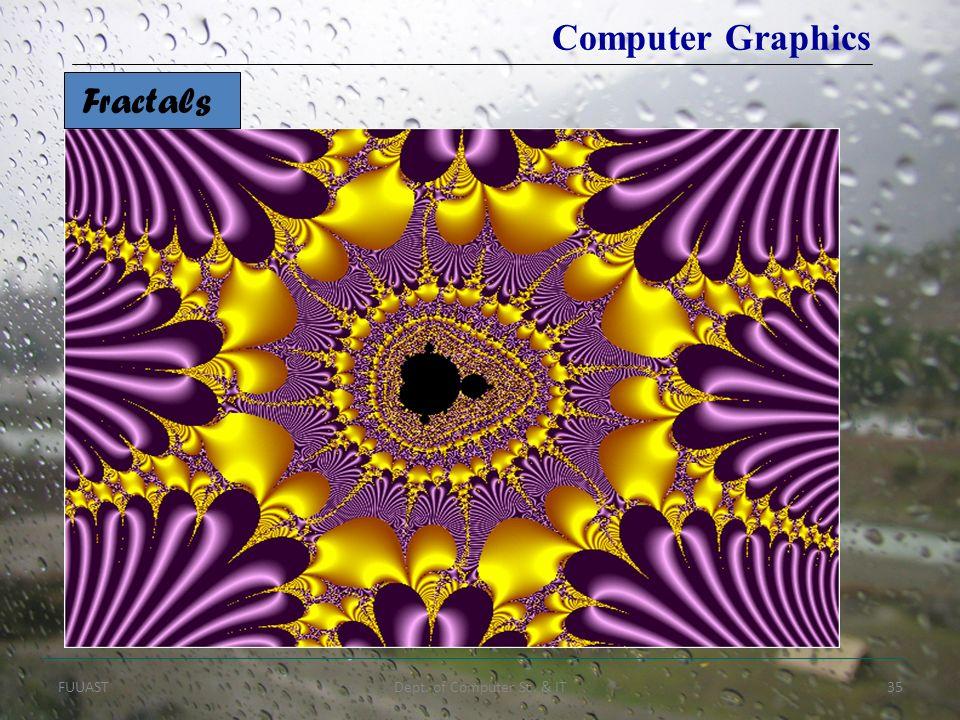 FUUASTDept. of Computer Sc. & IT35 Fractals Computer Graphics