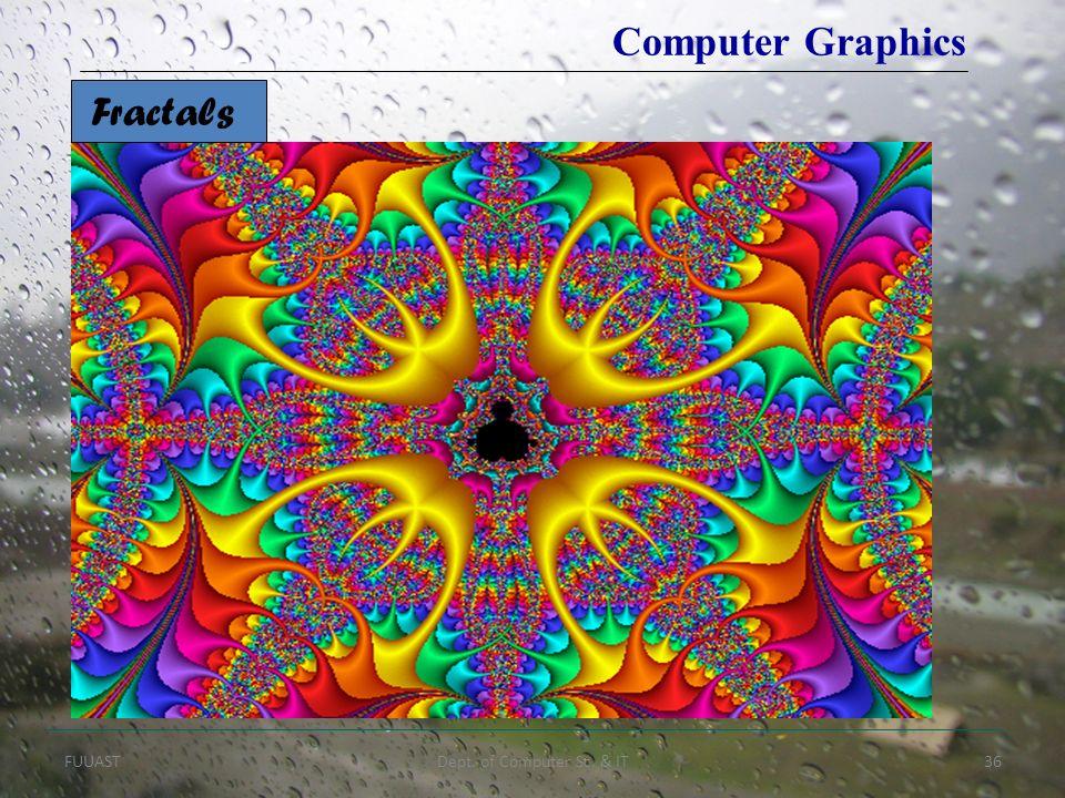 FUUASTDept. of Computer Sc. & IT36 Fractals Computer Graphics