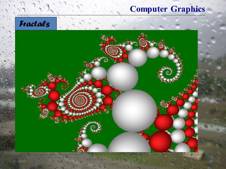 FUUASTDept. of Computer Sc. & IT38 Fractals Computer Graphics