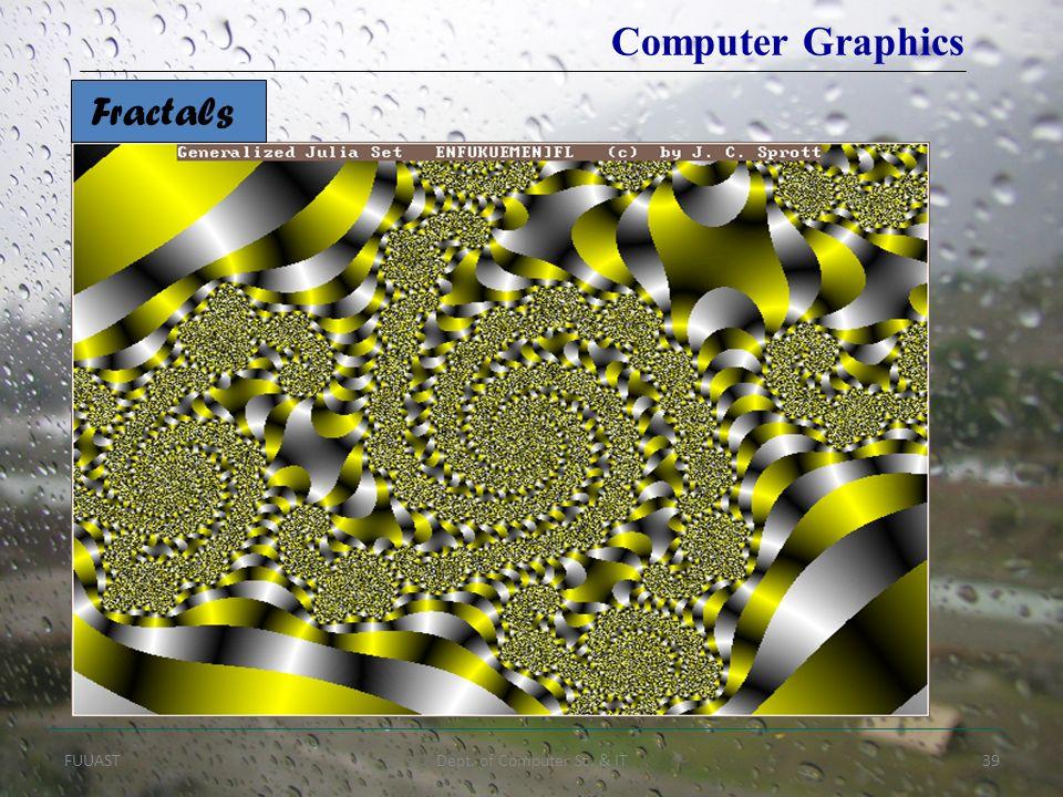 FUUASTDept. of Computer Sc. & IT39 Fractals Computer Graphics