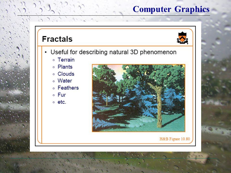 FUUASTDept. of Computer Sc. & IT4 Computer Graphics