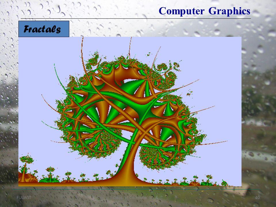 FUUASTDept. of Computer Sc. & IT40 Fractals Computer Graphics