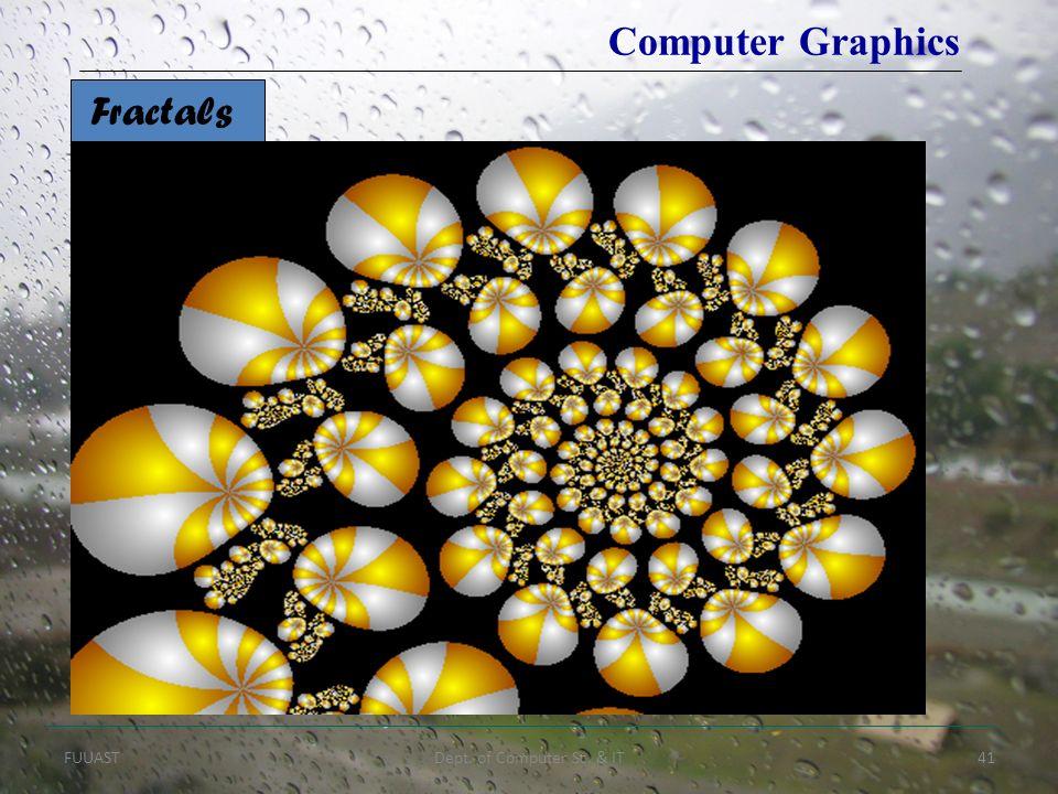 FUUASTDept. of Computer Sc. & IT41 Fractals Computer Graphics