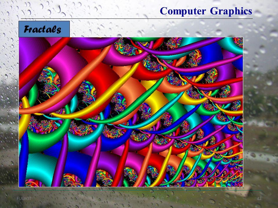 FUUASTDept. of Computer Sc. & IT42 Fractals Computer Graphics