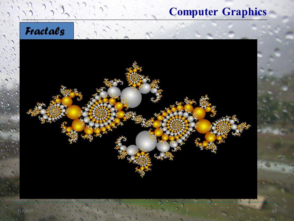 FUUASTDept. of Computer Sc. & IT43 Fractals Computer Graphics