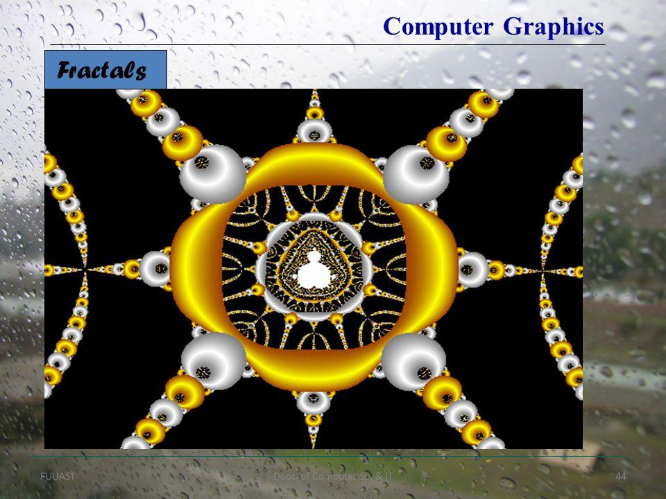 FUUASTDept. of Computer Sc. & IT44 Fractals Computer Graphics