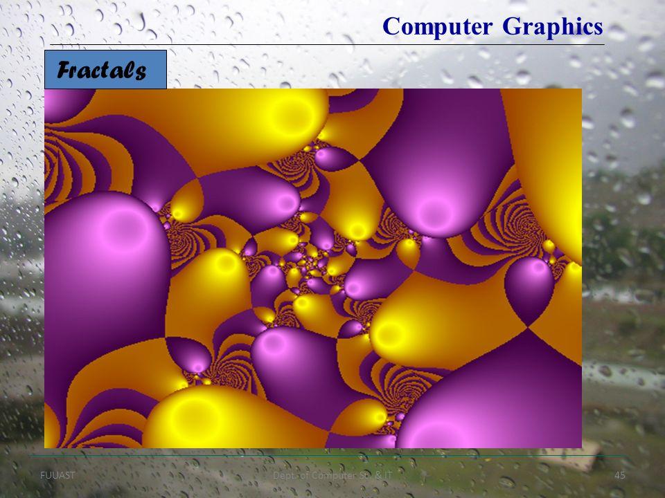 FUUASTDept. of Computer Sc. & IT45 Fractals Computer Graphics