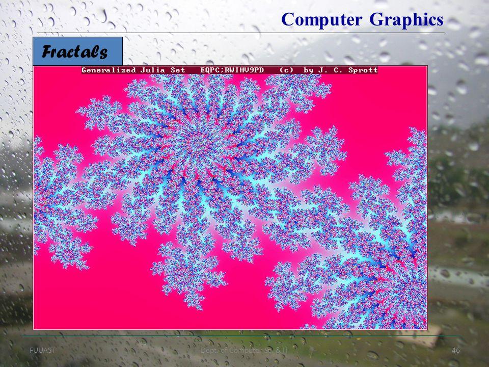 FUUASTDept. of Computer Sc. & IT46 Fractals Computer Graphics