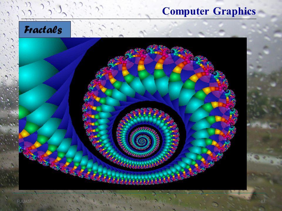 FUUASTDept. of Computer Sc. & IT47 Fractals Computer Graphics