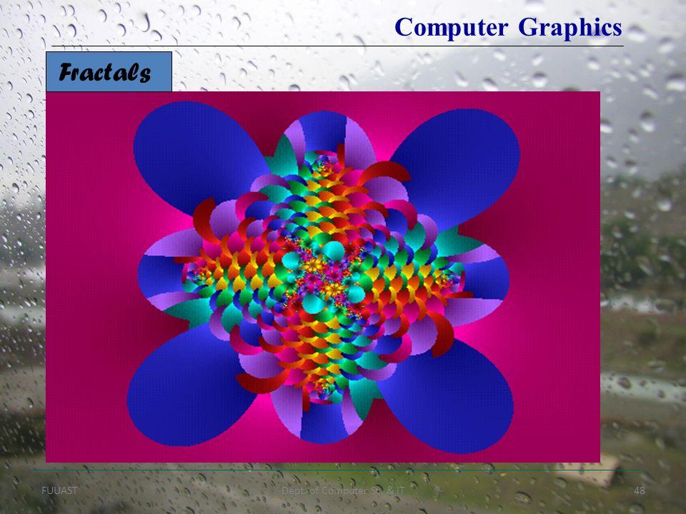 FUUASTDept. of Computer Sc. & IT48 Fractals Computer Graphics
