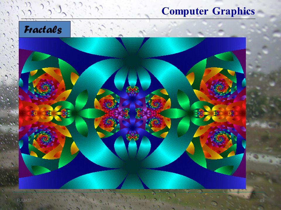 FUUASTDept. of Computer Sc. & IT49 Fractals Computer Graphics