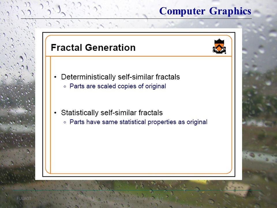 FUUASTDept. of Computer Sc. & IT5 Computer Graphics