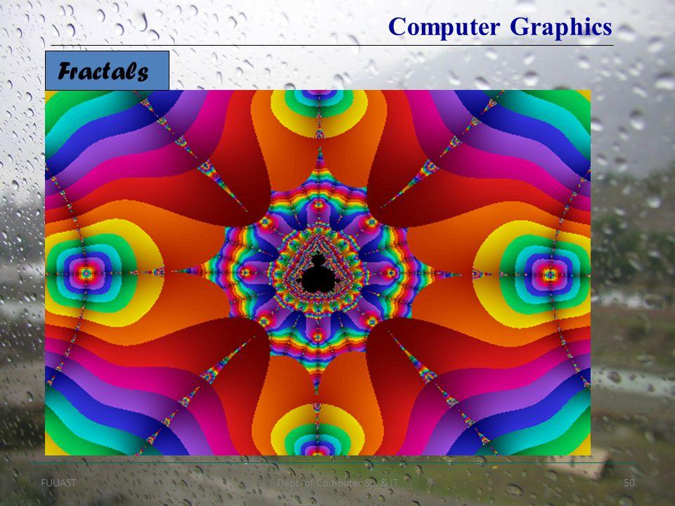 FUUASTDept. of Computer Sc. & IT50 Fractals Computer Graphics