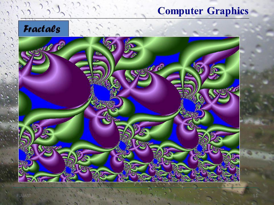 FUUASTDept. of Computer Sc. & IT51 Fractals Computer Graphics