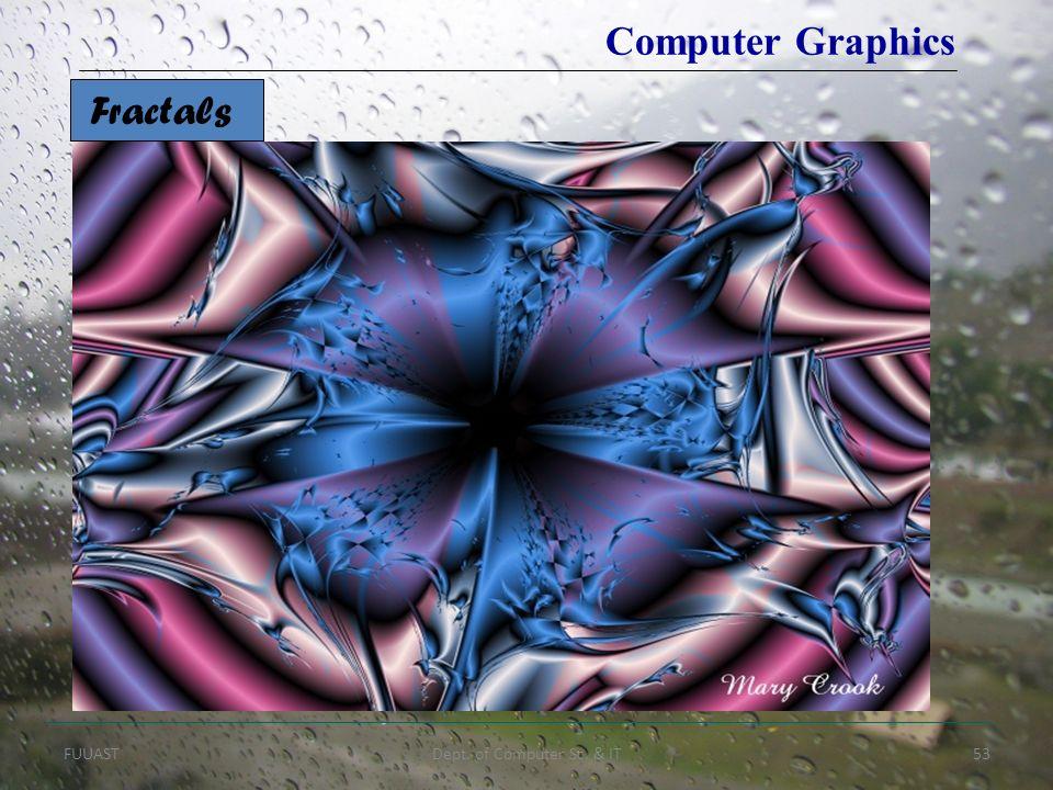 FUUASTDept. of Computer Sc. & IT53 Fractals Computer Graphics