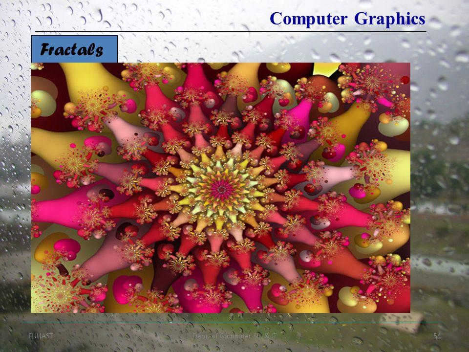 FUUASTDept. of Computer Sc. & IT54 Fractals Computer Graphics
