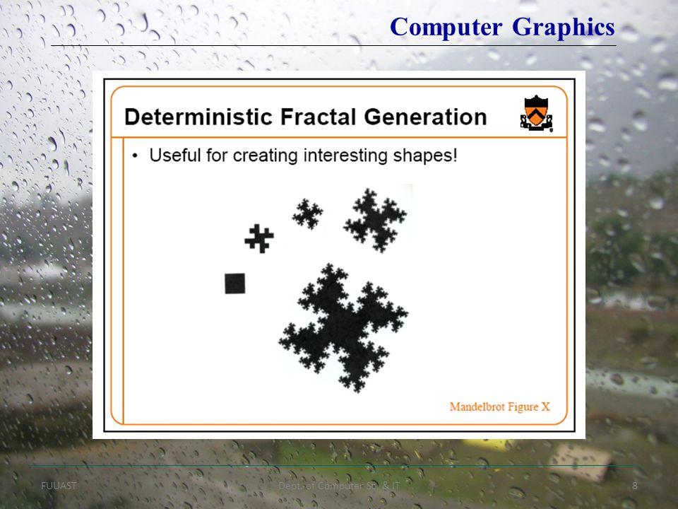 FUUASTDept. of Computer Sc. & IT8 Computer Graphics