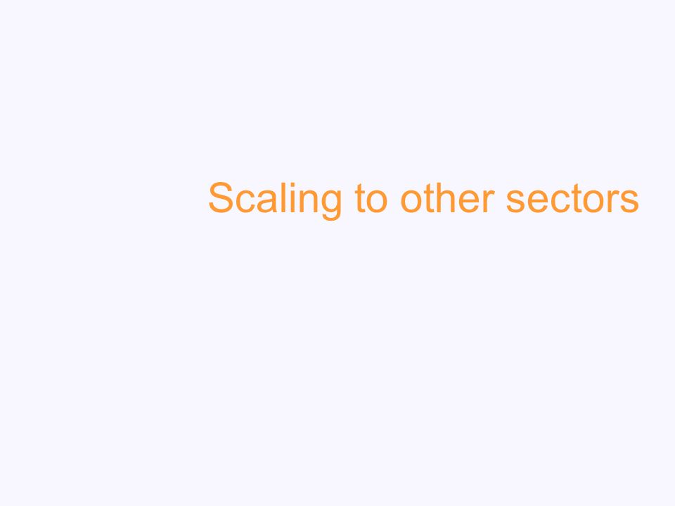Scaling to other sectors