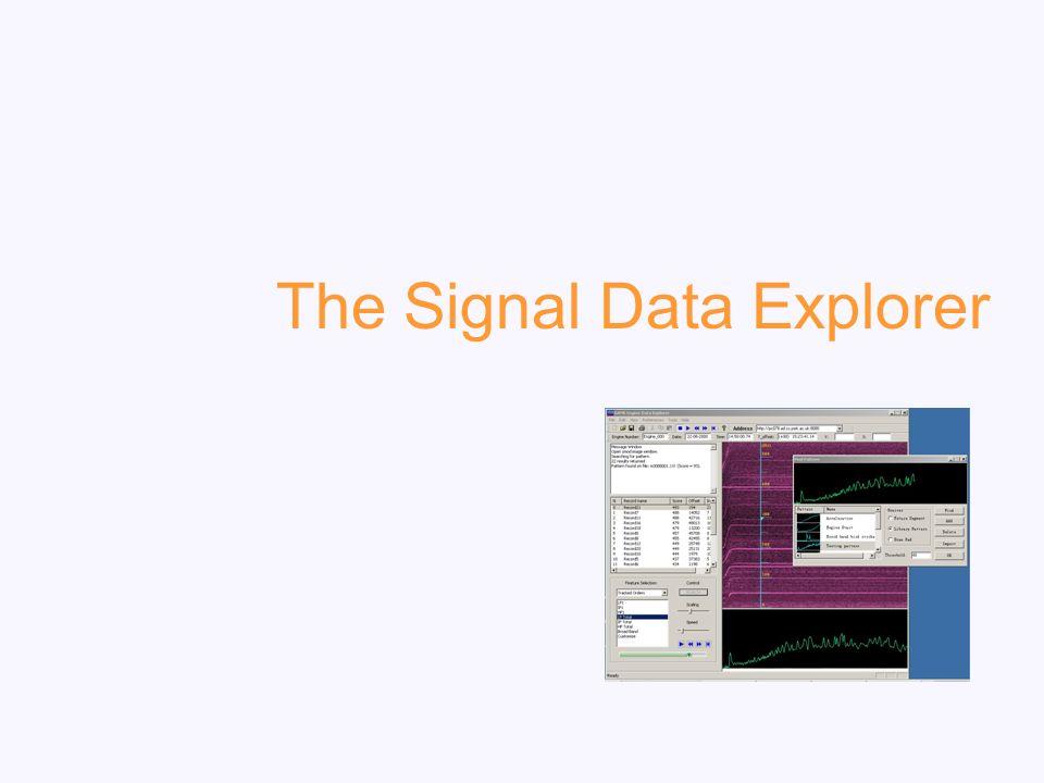 The Signal Data Explorer