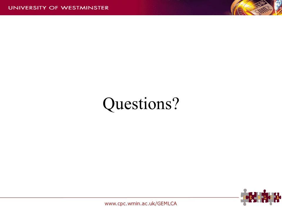 www.cpc.wmin.ac.uk/GEMLCA Questions?