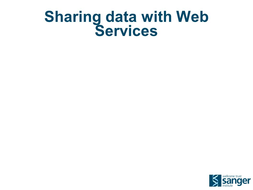 Sharing data with Web Services