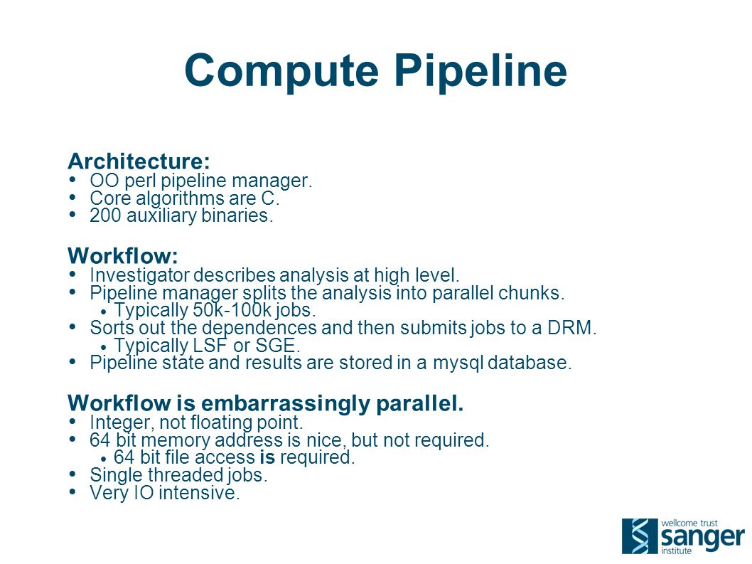 Compute Pipeline Architecture: OO perl pipeline manager.