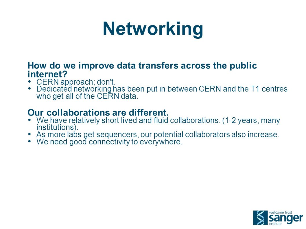 Networking How do we improve data transfers across the public internet.