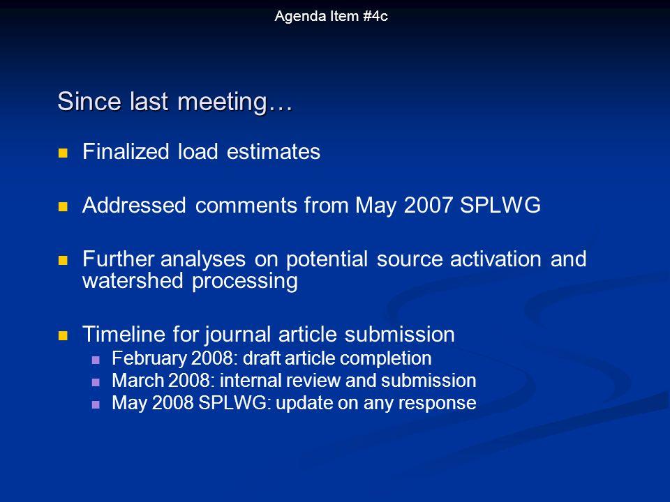 Contaminant loading Load in Grams/Yr WY 2003 WY 2004 WY 2005 WY 2006 Avg.