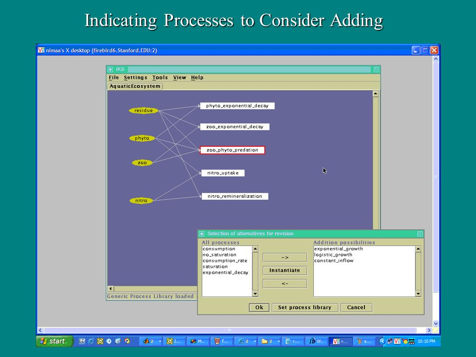 Indicating Processes to Consider Adding